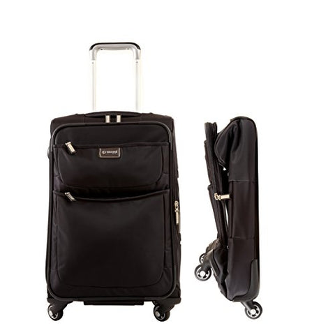 "Biaggi Luggage Contempo Foldable 22"" Spinner Carry On, Black"