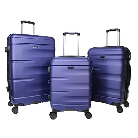 Dejuno Emerson 3-Piece Hardside Expandable Spinner Luggage Set, Navy