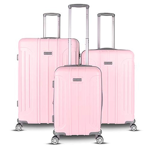Gabbiano Viva Collection 3 Piece Hardside Expandable Spinner Set (Blush)