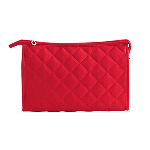 TOOGOO(R) Women Zipper Closure Small Cosmetic Case Makeup Bag - Red Size S