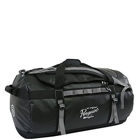 ORIGINAL PENGUIN Luggage Large Duffel Bag, Black/Grey, One Size