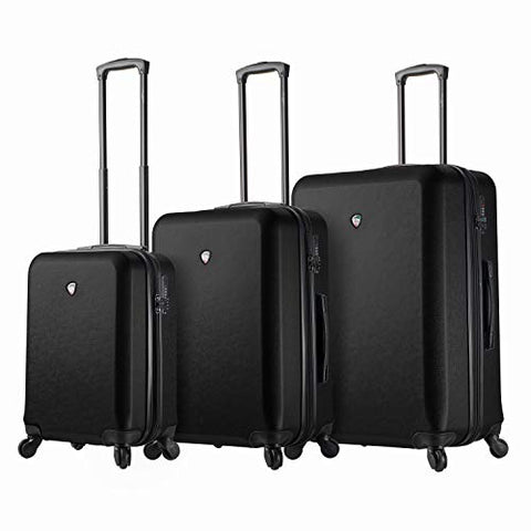 Mia Toro Italy Sacco Hardside Spinner Luggage 3pc Set,Black