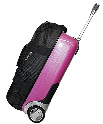BoardingBlue New Hard-Shell (Half) Airlines Rolling Personal Item Under Seat Bk-Rose, Black