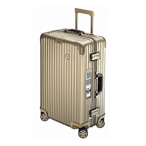Rimowa Lufthansa Private Jet Collection Suitcase 63.5L Titanium Electronic Tag