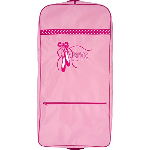 Sassi Designs Girls Pink Polka Dot Ballet Shoes Sweet Delight Dance Garment Bag