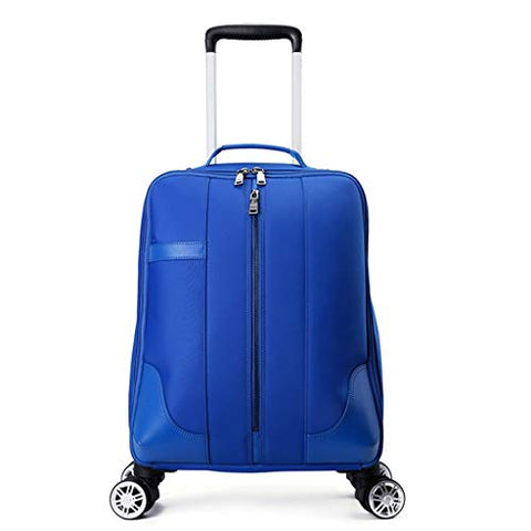 STATEGY 4 Wheels Trolley Backpack Executive Mobile Office Business Hand Cabin Luggage Laptop Rucksack Nylon Waterproof Bag for Women Traveling (Color : Blue, Size : 533521cm)