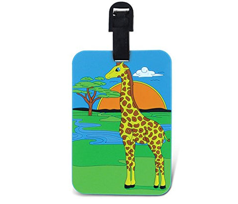 Puzzled Giraffe TAGGAGE! Easy Identification Luggage Tag 3.5x5 INCH