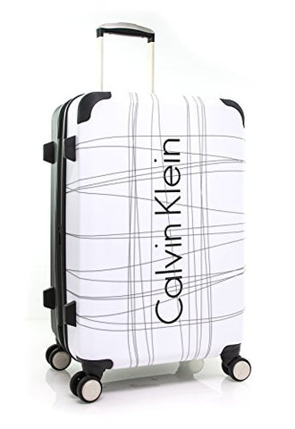 "Calvin Klein Highline 24"" Expandable Hardside Spinner, White"