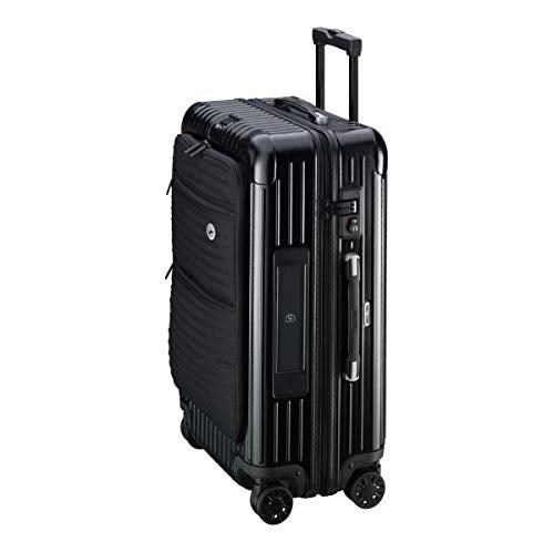 RIMOWA Lufthansa Bolero Collection Multiwheel L Trolley with RIMOWA Electronic Tag, Black 64L