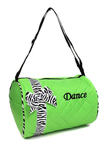 Quilted Duffel Dance Bags (Lime Green)