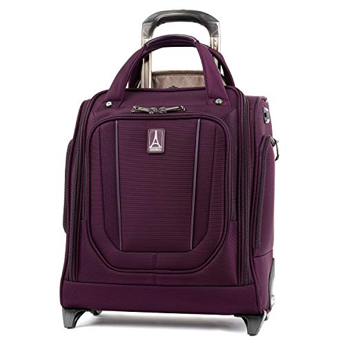Travelpro Crew Versapack Rolling Underseat Carry-on, perfect Plum