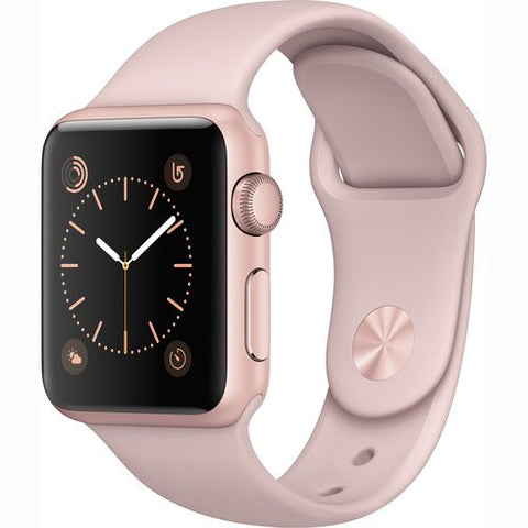Apple Watch Series 1 Smartwatch 38mm Rose Gold Aluminum Case, Pink Sand Sport Band (Newest Model)