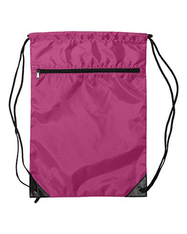 Liberty Bags Value Zipper Drawstring (Hot Pink) (One)