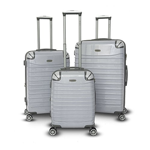 Gabbiano Vintage Collection 3 Piece Spinner Luggage Set (White)