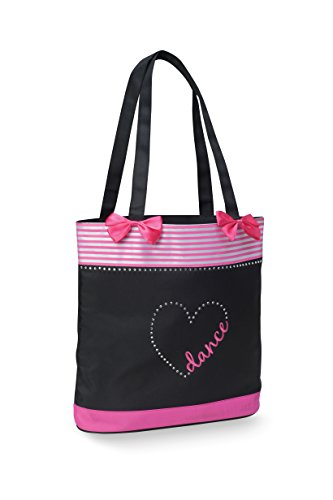 Dancer Heart & Bows Tote Bag