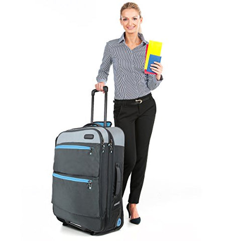 "Bondka 28"" Canvas Rolling Luggage"
