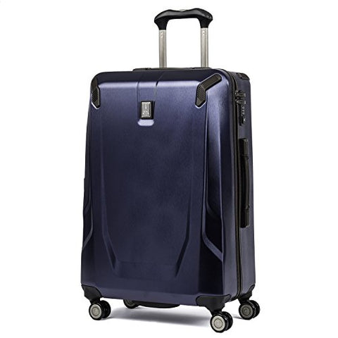 "Travelpro Luggage Crew 11 25"" Polycarbonate Hardside Spinner Suitcase, Navy"