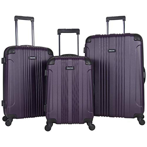"Kenneth Cole Reaction Out Of Bounds 4-Wheel Hardside 3-Piece Luggage Set: 20"" Carry-on, 24"", 28"","