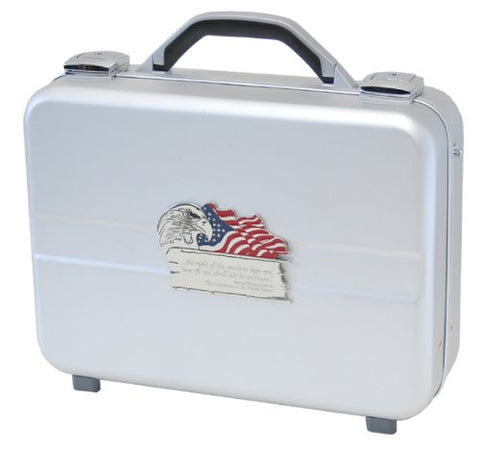 T.Z. Case International Executive Attache Style Pistol Case, Silver, 14.25-Inch