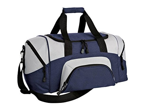 Port & Company Luggage-And-Bags Improved Colorblock Small Sport Osfa Navy/ Grey