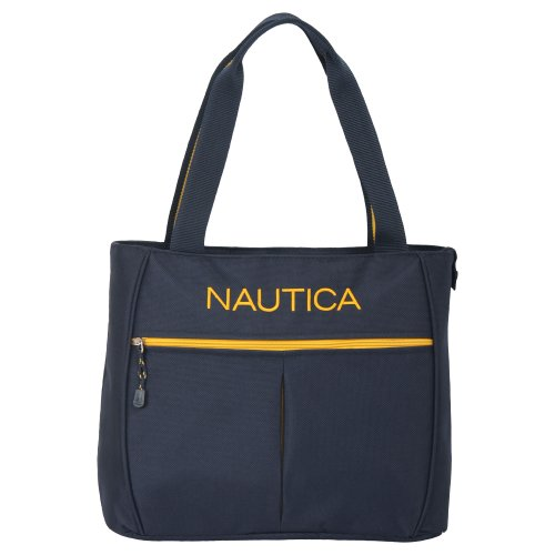 Nautica Luggage Helmsman Boat Classic Tote, Navy/Yellow, One Size
