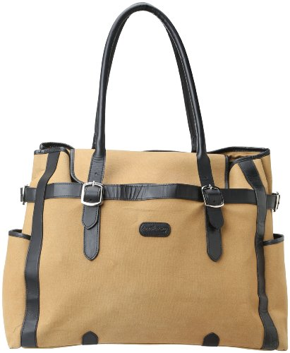 Leatherbay Laptop Tote,Khaki,One Size