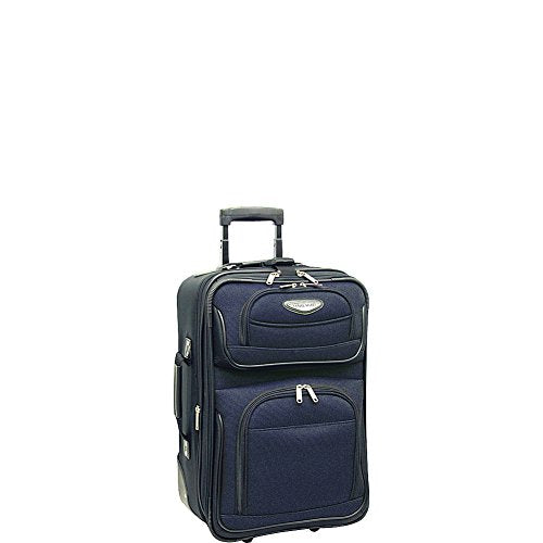 Traveler's Choice Amsterdam 21 in. Expandable Carry-on Rolling Upright (Navy)