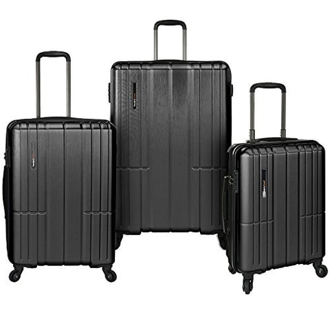 Traveler'S Choice Wellington 3-Piece Hardside Spinner, Grey