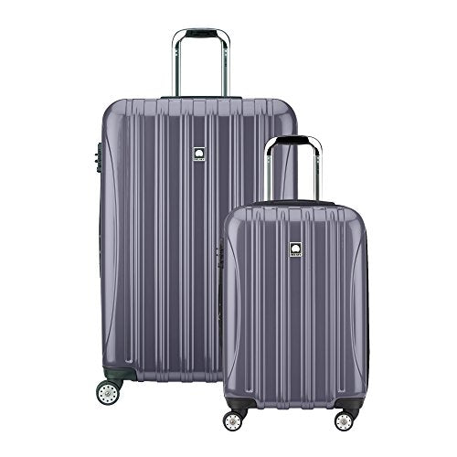 "Delsey Luggage Helium Aero Spinner Luggage Set (21""/29""), Titanium"