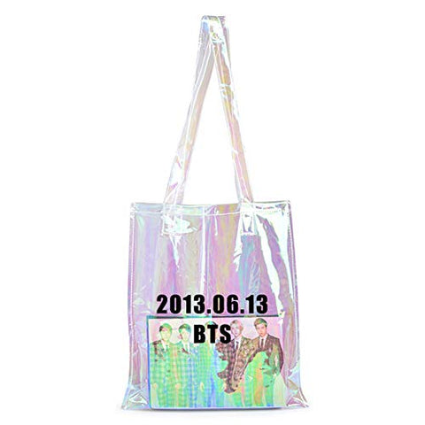 Bosunshine Kpop Shoulder Bag Canvas Messenger Bag BTS Fan Support(01)