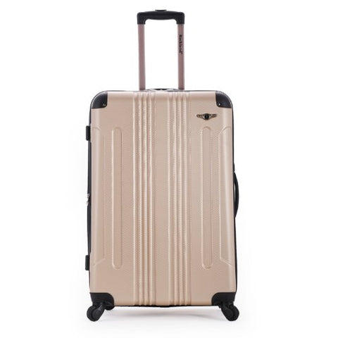 "Rockland Hard 24"" Spinner Luggage, Champagne"