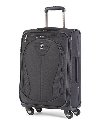 Atlantic Luggage Ultra Lite 3 21 Inch Expandable Spinner, Black, One Size