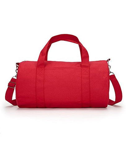 Ultraclub Grant Cotton Canvas Shoulder Straps Duffel Bag, Red, One
