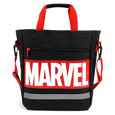 MARVEL Logo Title Tote Shoulder Secondary Bag with Velcro Closure