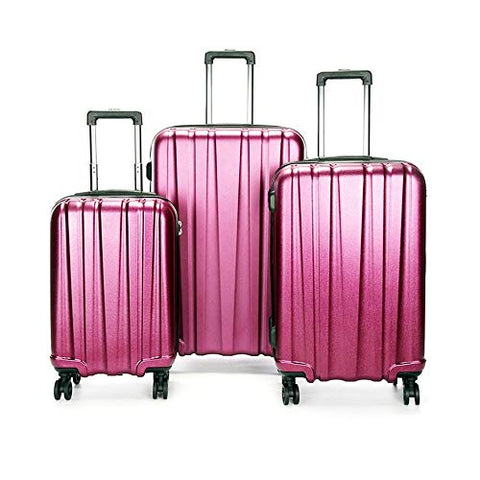 Suitcase Luggage Sets Spinner Suitcase Set For Women 20in 24in 28in Waterproof Hardshell Luggage 3 Piece Set Lightweight Nested Sets Carry-on Uprights Suitcase 360° Silent Spinner Multidirectional Whe
