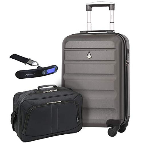 Large Capacity Maximum Allowance 22x14x9 Built-in TSA Airline Approved Delta United Southwest Carry On Luggage Trolley Rolling Suitcase Body Size 19.3x14x9in | Small Hard Shell Underseat Bag 16x10x8in