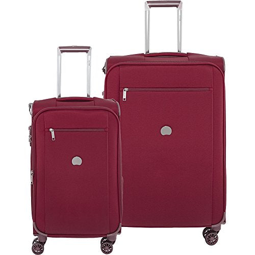 "Delsey Luggage Montmartre+ 21"" Carry on and 25"" Lug, Bordeaux"