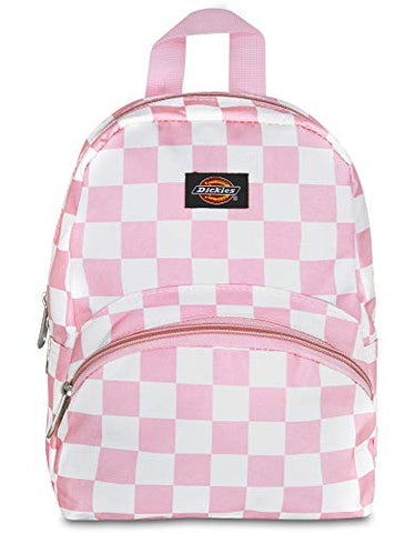 Dickies Mini Fashion Backpack, Pink/White Checker, One Size