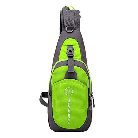 ABage Crossbody Hiking Backpack Waterproof Sling Daypack Back Pack Side Travel Gym Bag, Green