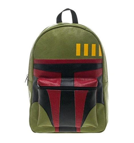 Bioworld Star Wars Boba Fett Dark Side Force Licensed Helmet Backpack School Bag