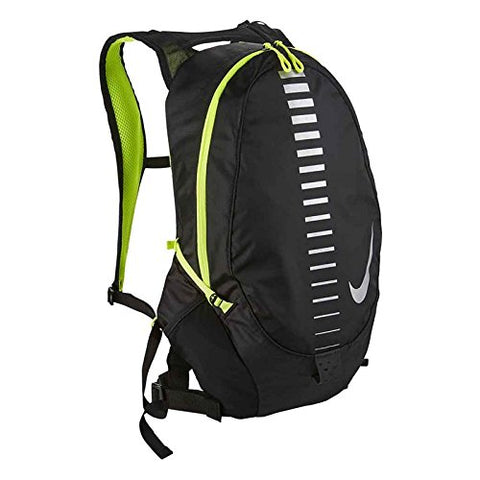 Nike Course Running Backpack For Men And Women In Black And Volt Green