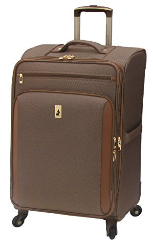 London Fog Kensington 25 Inch Expandable Spinner, Bronze, One Size