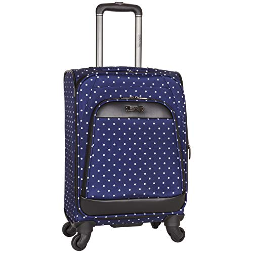 "Kenneth Cole Reaction Dot Matrix 20"" 600d Polka Dot Polyester Expandable 4-Wheel Spinner Carry-on"