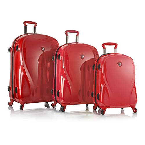Heys Xcase 2g Spinner Red 3 Piece Set, Infra