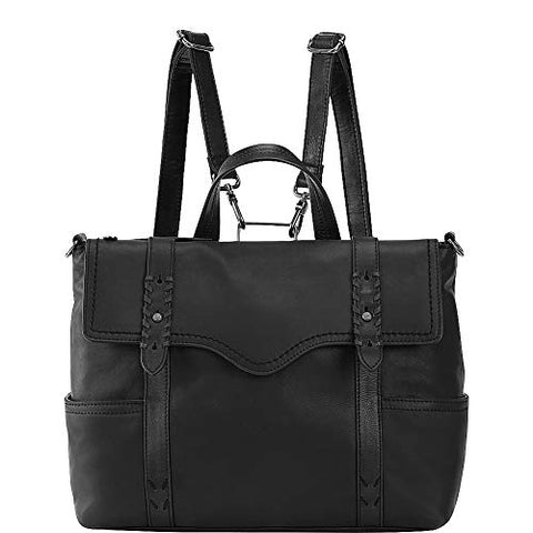 The Sak Women's Heritage Leather Convertible Backpack Black One Size