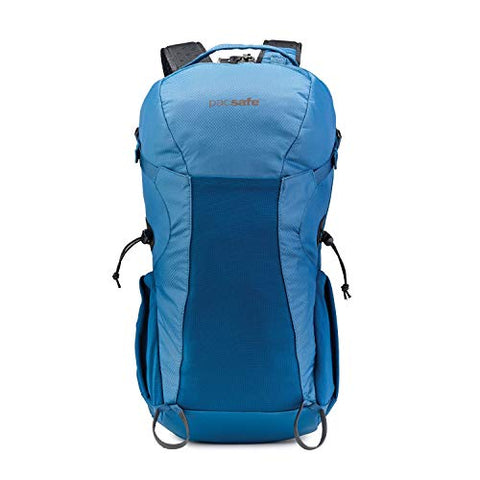 Pacsafe Venturesafe X34 34L Ergonomic Anti-Theft Outdoor/Hiking Backpack, Blue Steel