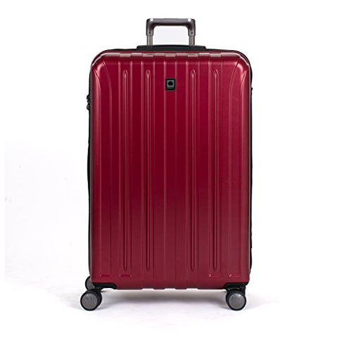 Delsey Luggage Helium Titanium 29 Inch EXP Spinner Trolley (One Size, Red)