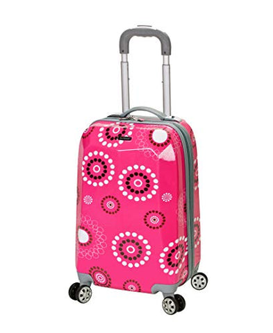 Rockland Luggage 20 Inch Polycarbonate Carry On Luggage, Pink Pearl, One Size