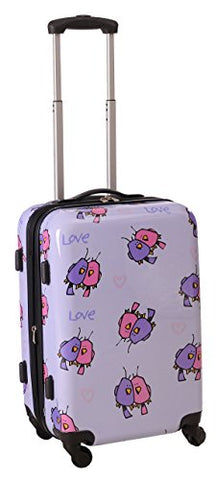 Ed Heck Multi Love Birds Hardside Spinner Luggage 21 Inch, Light Purple, One Size