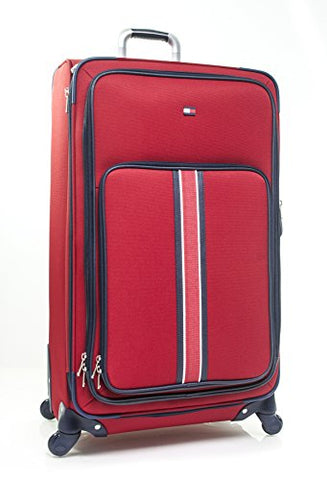 "Tommy Hilfiger Signature Solid 29"" Expandable Spinner, Red"